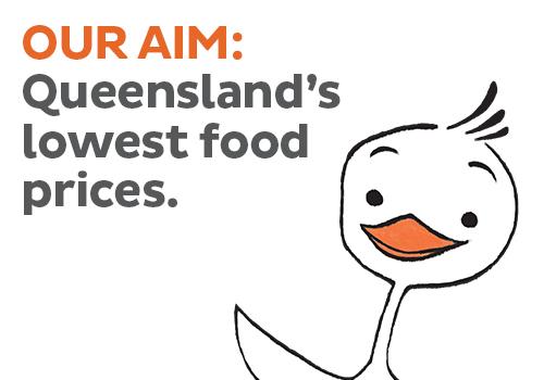 Queenslands lowest food pri es